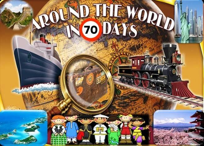 All around the World in 70 days:   FINAL COUNTDOWN..... The journey starts on the 2...