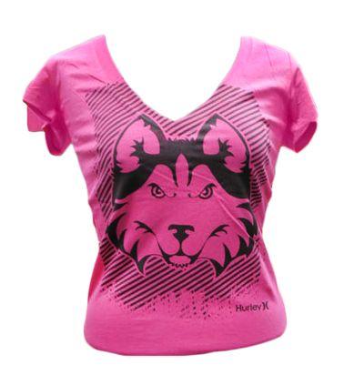 GO HUSKIES!!!!  Tshirt Womens Perfect V Neck Hurley | Houston Baptist University Store