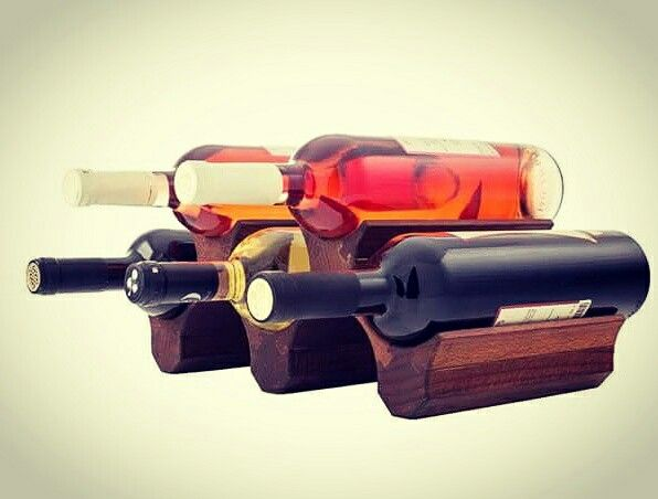5 Bottle Wood Wine Holder