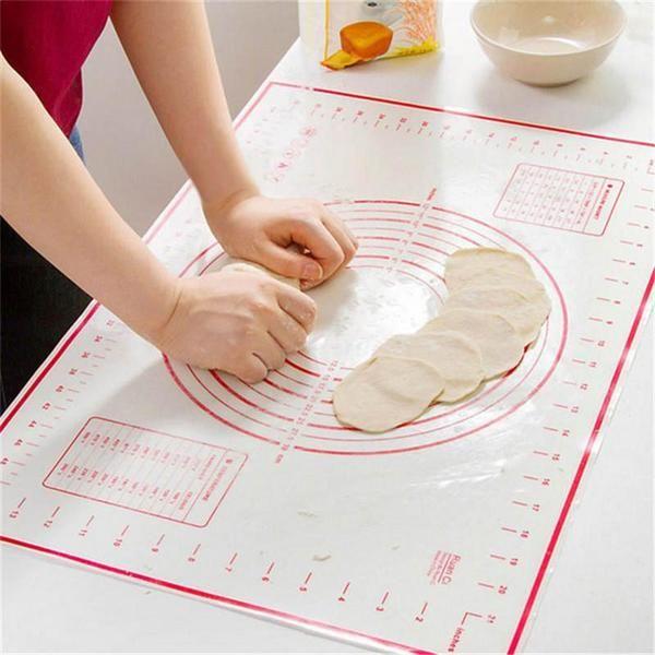 Non Stick Silicone Baking Mat Sheet Kneading Rolling Dough Pad Mat Bak Graywayweb In 2020 Cake Bakeware Kneading Dough Silicone Baking