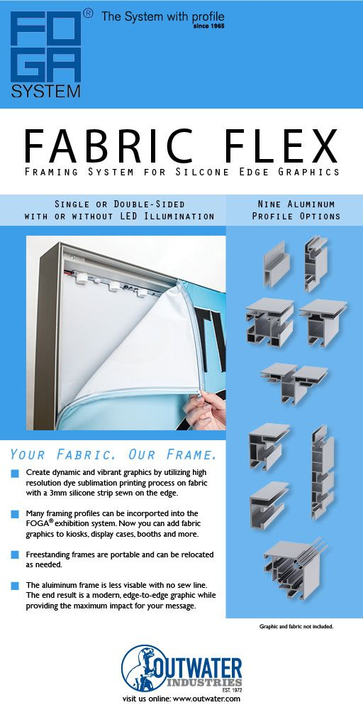 Aluminum Framing System for Silicone Edge Graphics (SEG). Your Fabric our framing system