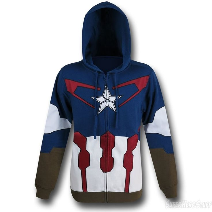 Images of Captain America Suit-Up Costume Hoodie