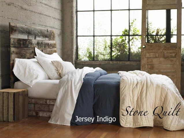 Organic Duvet Cover - Jersey - Indigo Blue by organiclifestyle   Ethical Ocean