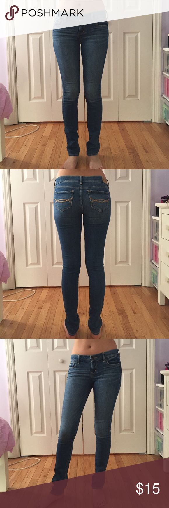 Abercrombie kids 16 slim skinny jeans Abercrombie kids medium wash skinny jeans. Size 16 slim fits like a 0 from hollister or abercrombie&fitch because this is an older style. Worn only a couple of times. Like new. abercrombie kids Jeans Skinny