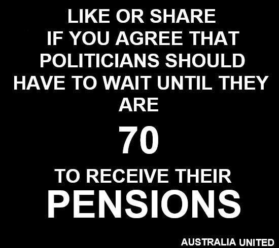 Why do they need a pension when they all go onto fabulously paid positions?