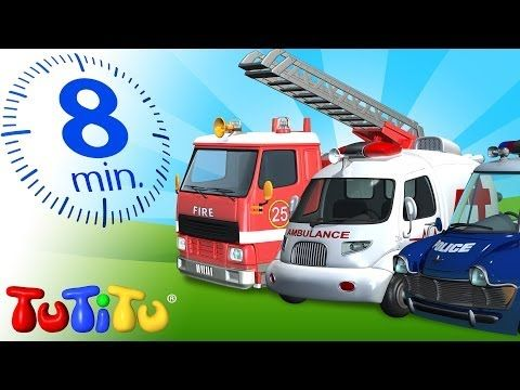 """TuTiTu Specials- Rescue Forces Collection! 3D animation """"toys come to life"""" videos for toddlers, including a fire truck video, a police car video, and an ambulance video!"""