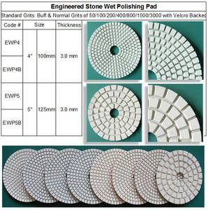 Engineered Stone Polishing Pad ~ Standard 7 Steps & 3 Steps