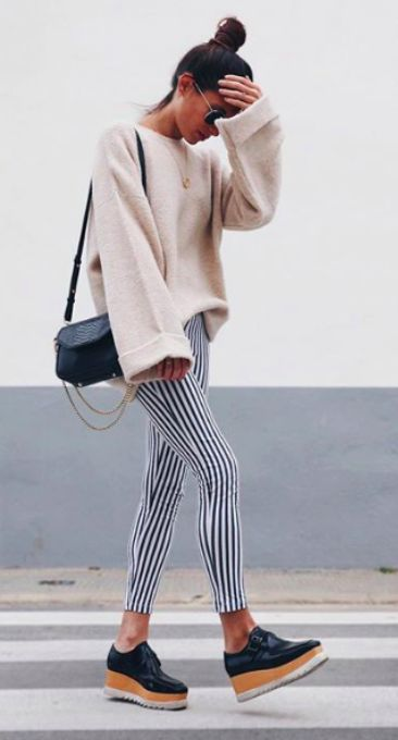 bell sleeve + stripes