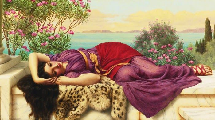 Art - painting:  Dolce Far Niente  (1906) by  John William Godward