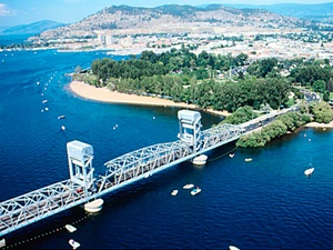 Okanagan Lake Bridge - Kelowna, British Columbia, Canada: Replaced by the WR Bennett Bridge