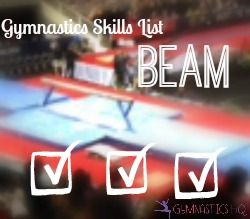 Here is a list of beam gymnastics skills. I've tried to list the skills in the order most gymnasts learnthem. It is not a comprehensive list. It's meant as a starting point. The jumps …