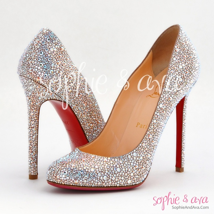 buy replica shoes online - christian louboutin lady lynch glitter pumps, white louboutins