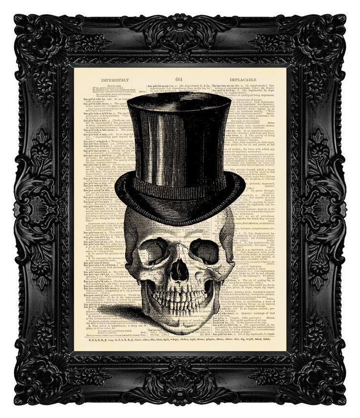Illustration de tête de mort tête de mort par MadameBricolagePrint