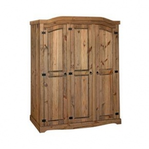 £299 Corona Mexican Pine 3 Door Wardrobe CR530  http://www.easyfurn.co.uk/solid-oak-furniture-Bedroom/Corona-Mexican-Pine-Bedroom/Corona-Mexican-Pine-CR530