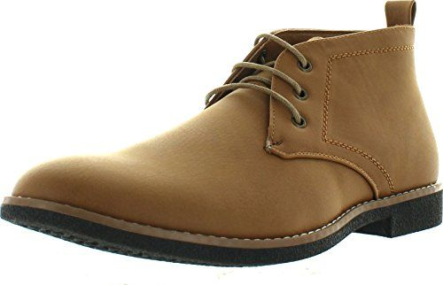 Arider Cooper-03 Men's High-Top Lace Up Chukka Ankle Booties,Camel,10