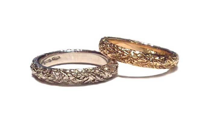 fedi nuziali, dal design esclusivo fedi originali fedi artigianali oro bianco, oro rosso, oro giallo 18 kt.