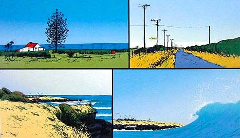 Paora Rd/ Rocky Point by Peter Lambert for Sale - New Zealand Art Prints