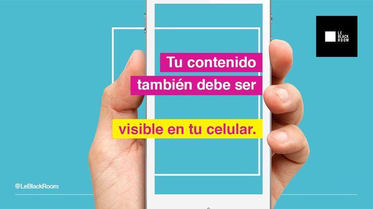 Los dispositivos móviles cada vez son más útiles para navegar en internet. Genera contenido adaptado a ellos.