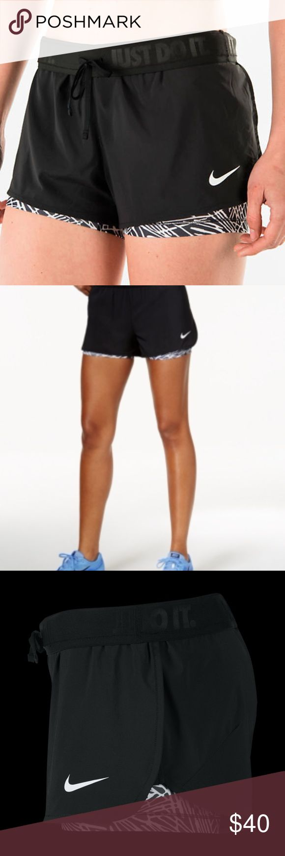 """Nike Dri Fit Black Full Flex  2-IN-1 Twist Shorts Excellent Like New Condition:  Measurements Taken While Item Lay Flat: Waist- 13.5"""" Length-10.5""""  Women's Training Shorts Move comfortably in Nike Full Flex 2-in-1 Twist Women's Training Shorts.  The design pairs compressive inner shorts with a stretch-woven outer layer Outer shell has full-flex construction for unrestricted movement. Dri-FIT fabric helps keep you dry and comfortable. Knit inner shorts provide a compressive fit. Side pockets…"""