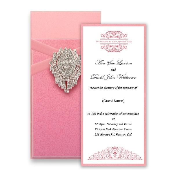 Pink essential invitation - Handmade Wedding Invitations & Unique Stationery Online