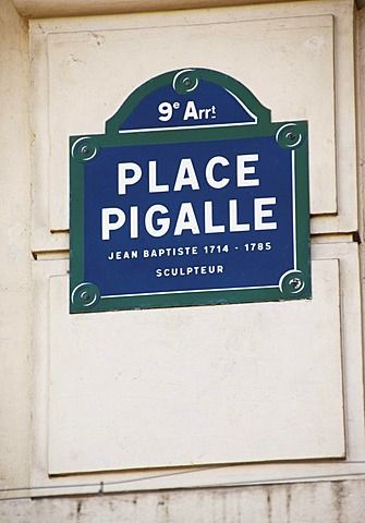 Street sign for the Place Pigalle, Paris, France, Europe