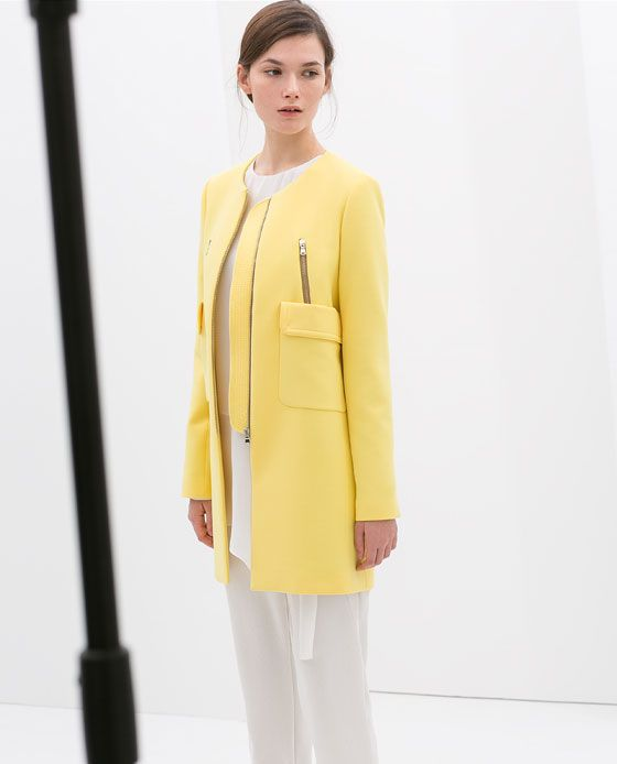ZARA - DONNA - CAPPOTTO TASCHINI #ss14 #spring http://v.downjackettoparea.com Cannadagoose JACKETS is on clearance sale, the world lowest price. --The best Christmas gift $169