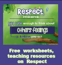 What is respect worksheets and more teaching resources on respect