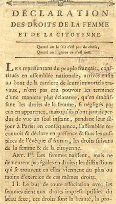 Galleria di grandi donne: Olympe de Gouges / 3 ~ Il Manoscritto del Cavaliere