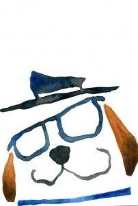 犬のポストカード素材