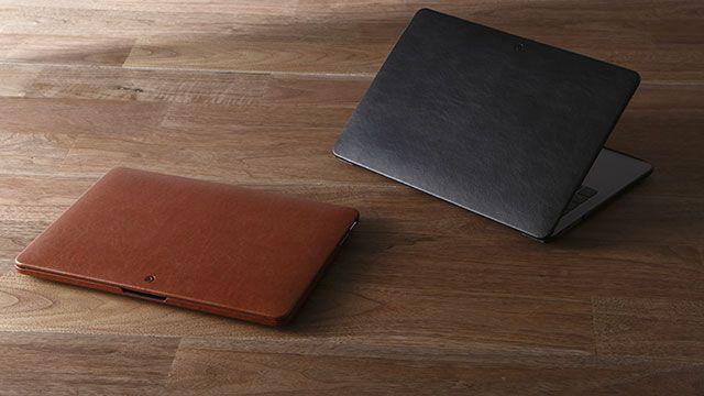 新製品MacBook Pro201613インチ15インチモデルに被せる合皮製ケースDeff PUレザージャケット