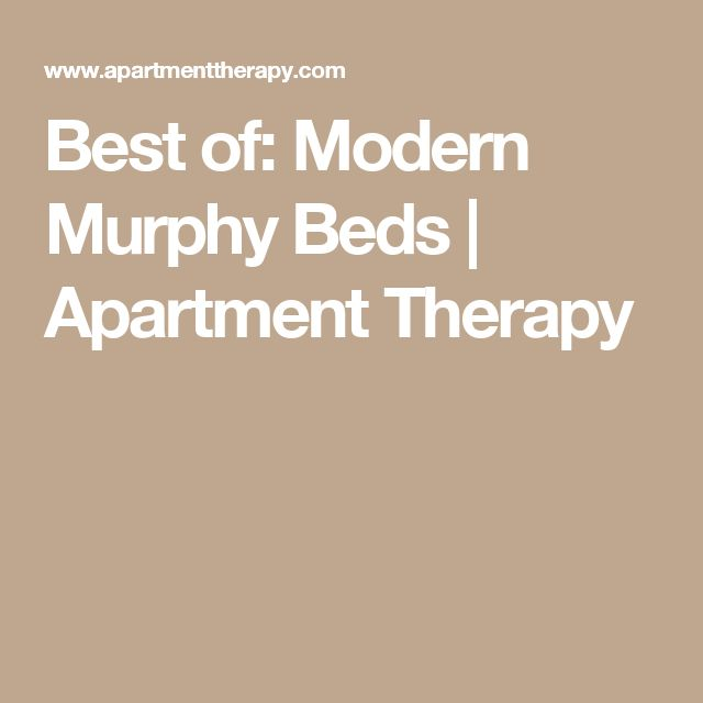 37 best murphy and built in beds images on pinterest for Apartment therapy murphy bed