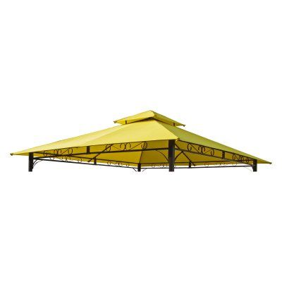 2-Tiered Vented Outdoor Gazebo Canopy Replacement Top - YF-3136B-CNP-TC | Mesas Tops and Products  sc 1 st  Pinterest & International Caravan Mesa 10 ft. 2-Tiered Vented Outdoor Gazebo ...