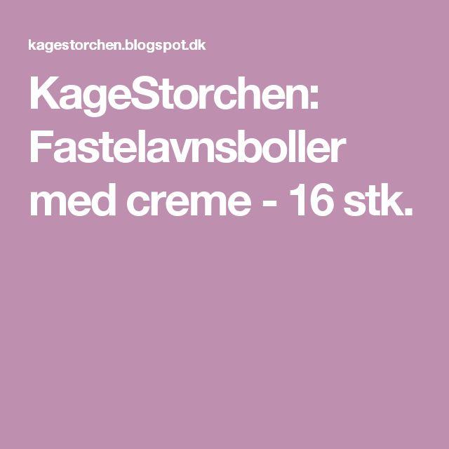 KageStorchen: Fastelavnsboller med creme - 16 stk.