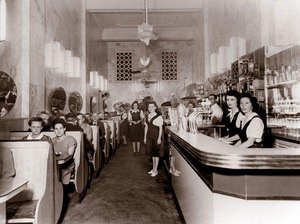 Astoria Café, Hunter Street, Newcastle, NSW. c. late 1940s.