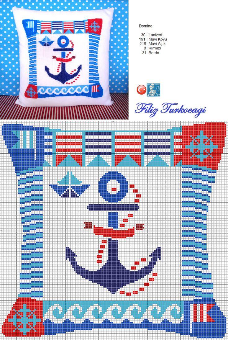 Nerede kalmıştık :) Haydi bakalım, sizinle üçlü bir yastık serisi paylaşacağım...Ben bitirene dek nerede ise yaz bitecekti :)) Designed and stitched by Filiz Türkocağı... ( Summer cushion-1 )