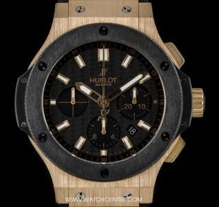 Hublot 18k Rose Gold Black Carbon Fiber Dial Big Bang Box & Papers 301.PM.1780.RX #Hublot #Rose #Gold #Black #Carbon #Fiber #BigBang #Wristwatch #Luxury #Timepiece #WatchCentre #NewBondStreet #Mayfair #London