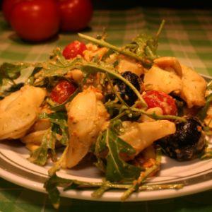 Tortellini-Salat mit grünem Pesto - Daily Vegan