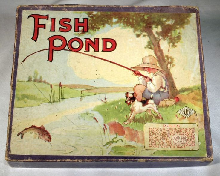 Vintage fish pond board game wilder yldr trade mark st for Fish pond game
