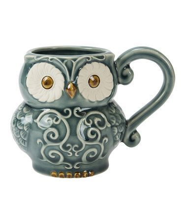 This Blue Owl Stoneware Mug is perfect! #zulilyfinds: