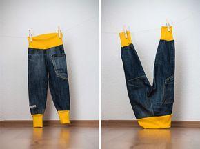 Aus einer alten verschlissenen Jeans von Papa wurde heute eine neue Mitwachshose für den Sohnemann. Bloggen ist echt was tolles, ich frag mi...