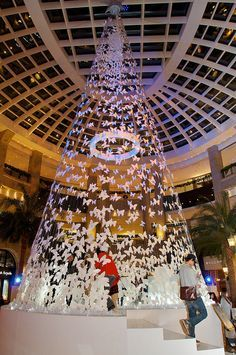 Bellavita Christmas Installation - icy butterflies
