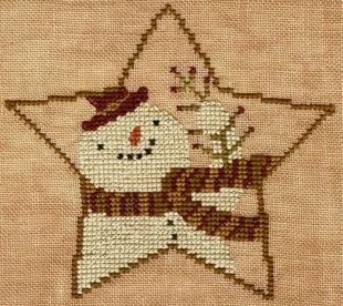 This item will be released in the Norden Online Market that launches August 8th. Star Shaped Snowman is the title of this cross stitch pattern from Teresa Kogut.