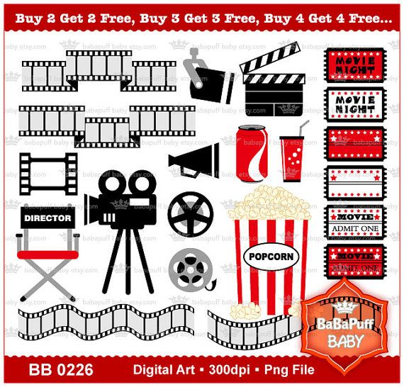 7 best movie clip art images on Pinterest Clip art - movie invitation template free