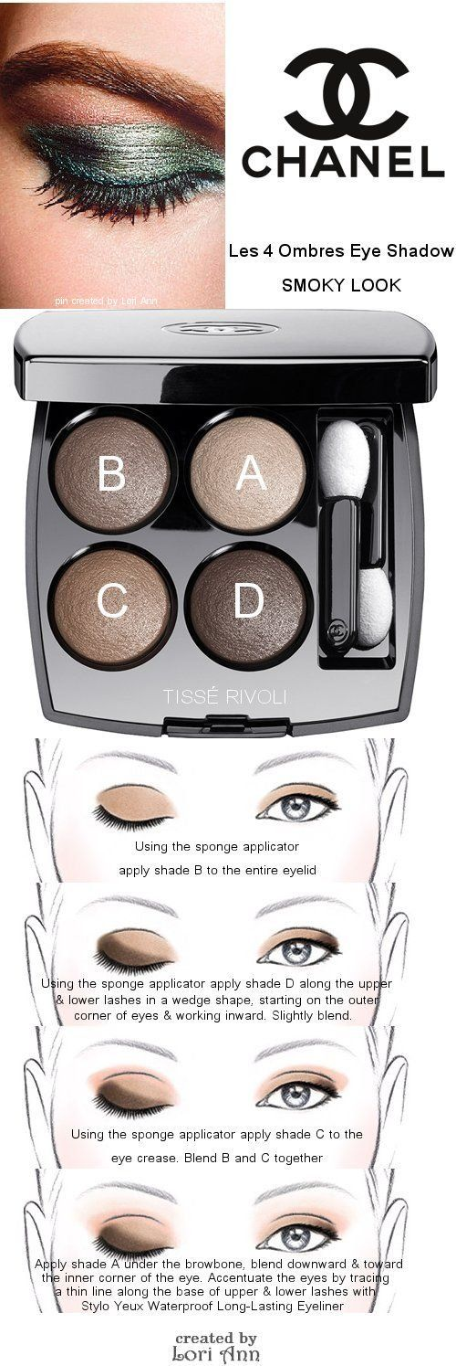 Chanel Les 4 Ombres Eye Shadow Smoky Look Tutorial                                                                                                                                                                                 Plus