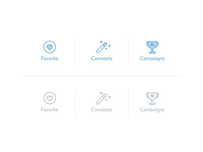 Tab bar selected icons