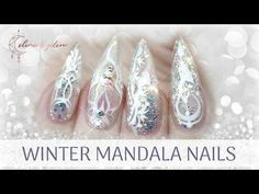 TUTORIAL | WINTER MANDALA NAILS | GEL EXTENSION | WEDDING, FROZEN, ICE - YouTube