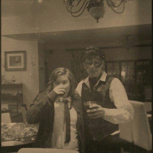 Sam & John at the Masked Ball 1609. #vampires #maskedball #bloodthirsty #wine #formal #dapperman