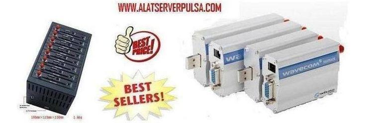 Alat Server Pulsa - Modem Wavecom GSM  CDMA - UPS Modifikasi - Penguat Sinyal #hardware #wireless #computers