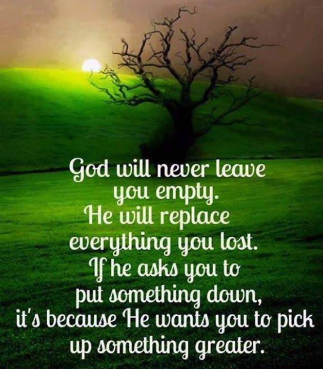 God Will Never Leave You Empty · Inspirational Religious QuotesEaster ...