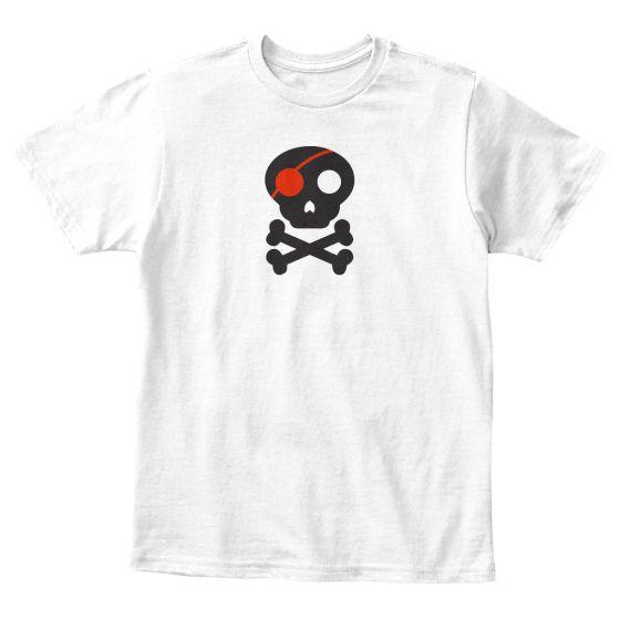 Kids T-Shirt of Skull and Cross Bones Jolly Roger